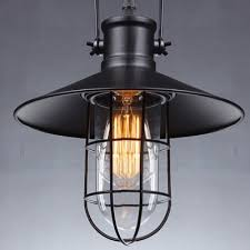Country Style Pendant Lights Elegantly Black Industrial Country Style 15 7 High Pendant