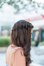 best 25 waterfall braid prom ideas on pinterest waterfall