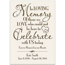 personalized in loving memory gifts wedding memorial sign wedding memorial in loving memory sign in