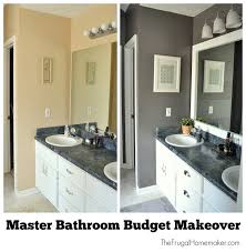 Bathroom Makeovers Before And After Pictures - master bathroom budget makeover jpg