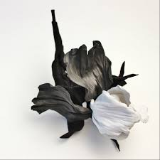 Black And White Corsage Black And White Leather Iris Corsage Presentperfect Creations