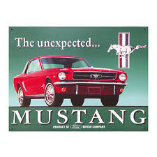 ford mustang metal wall tin signs desperate enterprises ford mustang collectible metal