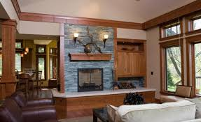 living room beautiful craftsman living room with wood stone