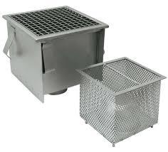 grille de cuisine siphon de sol en acier inox pour cuisine avec grille carré