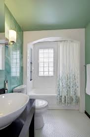 1930s Banister Bathtub Enclosures Bathroom Transitional With 1930s Glass Tile 3 6
