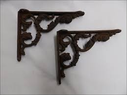 furniture wonderful ornamental iron shelf brackets shelf ledge