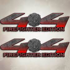 Ford F150 Truck Decals - f 150 firefighter truck decal