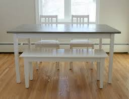 Cheap White Dining Room Sets Diy Concrete Dining Table Top And Dining Set Makeover The Crazy
