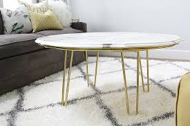 Hairpin Coffee Table Legs Diy Marble Top Coffee Table Withheart