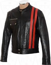 sale victor frankenstein black leather jacket