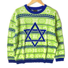 no it s not a sweater lime green tacky hanukkah