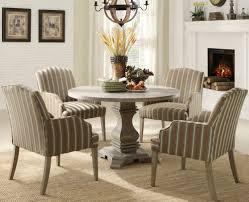 cool round pedestal dining table set on havana espresso round