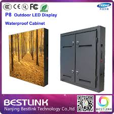 led outdoor cabinet 768 768mm with full color led screen 4 scan p8