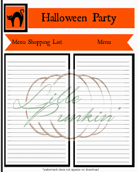 lille punkin u0027 free halloween party planning printables