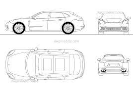 porsche sedan models porsche panamera autocad drawings dwg models download