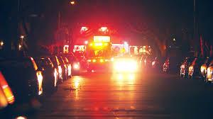 emergency lights of ambulance illuminating of