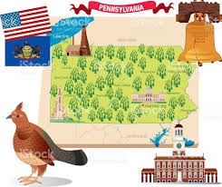 Map Of Pennsylvania And New York by Cartoon Map Of Pennsylvania Stock Vector Art 472361741 Istock