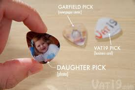 pick punch create your own guitar picks from old stuff lying