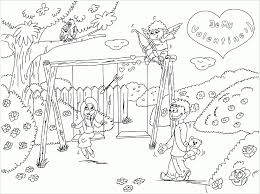 coloring pages park scene scenery coloring pages coloring page pedia