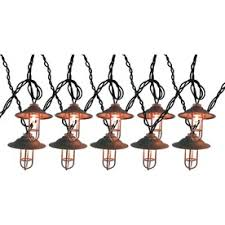 metal lantern patio lights allen roth 10 light clear silver lantern patio string lights