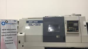 mori seiki sl 35b cnc turning center lathe w mf t6 fanuc 16t