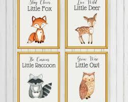 Woodland Animals Nursery Decor Woodland Nursery Etsy