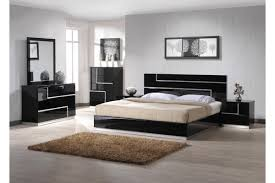 Acrylic Bedroom Furniture by Black High Gloss Acrylic Low Profile Bed On Unfinished Wooden