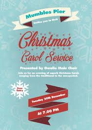 Christmas Carols Invitation Cards Christmas Concert Hosted By Gwalia Singers U2013 Mumbles Pier