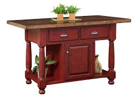 Kitchen Island Country Amish Country Kitchen Island With Drawers