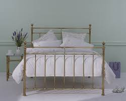 Brass Double Bed Frame Obc Blyth 5ft Kingsize Brass Metal Bed Frame By Original Bedstead