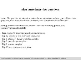 nicu resume nicu questions