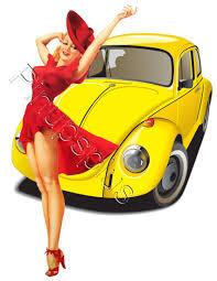 volkswagen bug clip art retro vw bug volkswagen pinup decal s556 s556 4 75 pin