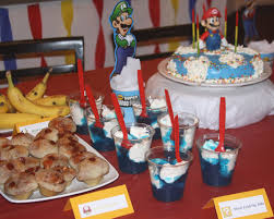 mario birthday party mario birthday party complete with mario themed food and a