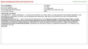 membership director cover letter
