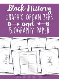 thanksgiving graphic organizer writing activities for black history month and a freebie