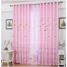 Pink Curtains For Girls Room Pink Color Fabric Fish Patterns Girls Room Curtains