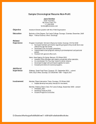 Chronological Format Resume Sample by 4 Chronological Resume Template Doctors Signature