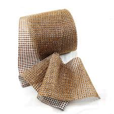 copper ribbon copper diamond mesh roll wedding cake decorations centerpieces