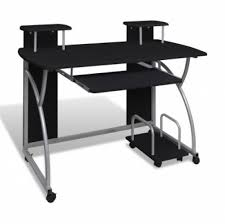 Movable Computer Desk Metal Computer Desk New Woodenmetal Computer Tablepc Tableoffice