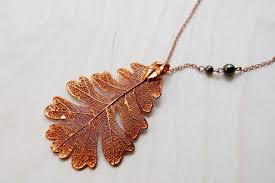 copper electroforming necklaces electroformed nature enchanted leaves