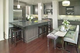 Transitional Pendant Lighting Kitchen - gray shoe cabinets kitchen contemporary with recessed lighting gas