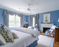 Blue And White Bedroom Houzz - Blue and white bedroom designs