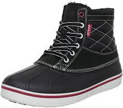 crocs light up boots crocs ballet flats crocs men s allcast duck boot lace up shoes