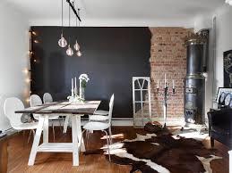 half wall kitchen designs half brick half black wall in a swedish living room coco lapine