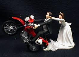 motorcycle wedding cake toppers road dirt bike motorcycle wedding cake topper honda racing