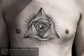 tattoo chest triangle 8 triangle eye tattoos on chest