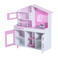 homcom kids pretend kitchen playset pink aosom co uk