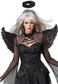 black angel halloween costume women u0027s fallen angel costume