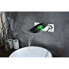 wall mount waterfall bathroom sink faucet best bathroom decoration