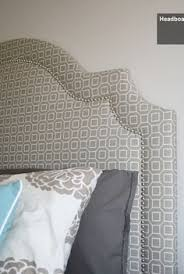 Upholstered Headboards Diy by Shaped Nail Head Upholstered Headboard You U0027ll Love The Simple